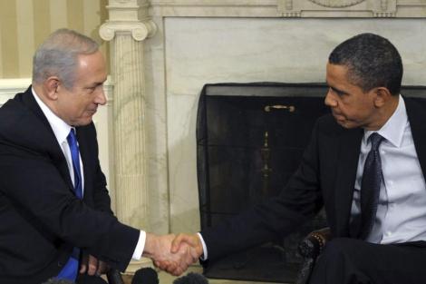 El primer ministro israelí, Benjamin Netanyahu, con Barack Obama en la Casa Blanca. | Efe