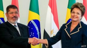 Presidente do Egito, Mohammed Morsi pediu mais investimentos brasileiros