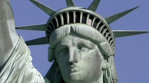 A estátua foi um presente da França para os Estados Unidos