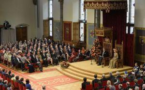 El rey de Holanda, Guillermo Alejandro, da su discurso de la Corona en la sala de los Caballeros de La Haya. / LEX VAN LIESHOUT (AFP)