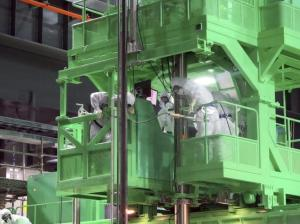 Última retirada de combustible gastado del reactor 4 de Fukushima. | EFE