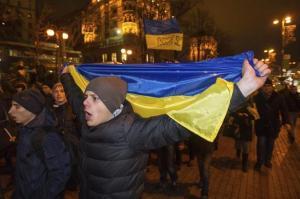 Manifestación en el centro de Kiev, en Ucrania. Alexei Furman EFE