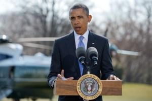 El presidente estadounidense, Barack Obama, en los jardines de la Casa Blanca. MANDEL NGAN AFP