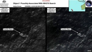 Fotos de possíveis destroços do avião foram divulgadas pela Autoridade de Segurança Marítima da Austrália